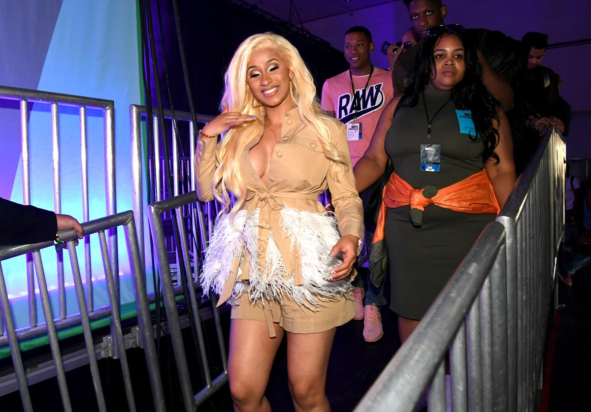 Cardi B backstage onstage at the Main Stage Performances during the 2017 BET Experience at Los Angeles Convention Center on June 24, 2017 in Los Angeles, California.