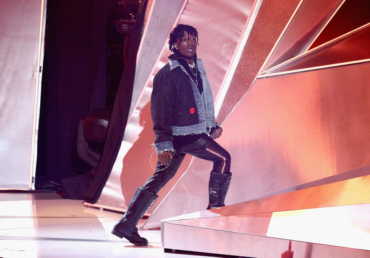 Lil Uzi Vert performs onstage during the 2017 MTV Video Music Awards at The Forum on August 27, 2017 in Inglewood, California