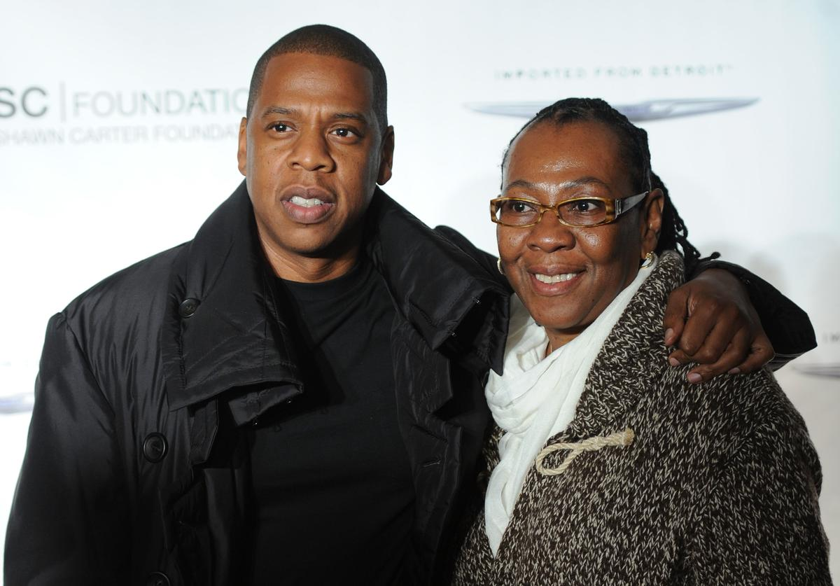 Jay-Z poses with his mother, Gloria Carter during an evening of 'Making The Ordinary Extraordinary' hosted by The Shawn Carter Foundation at Pier 54 on September 29, 2011 in New York City.