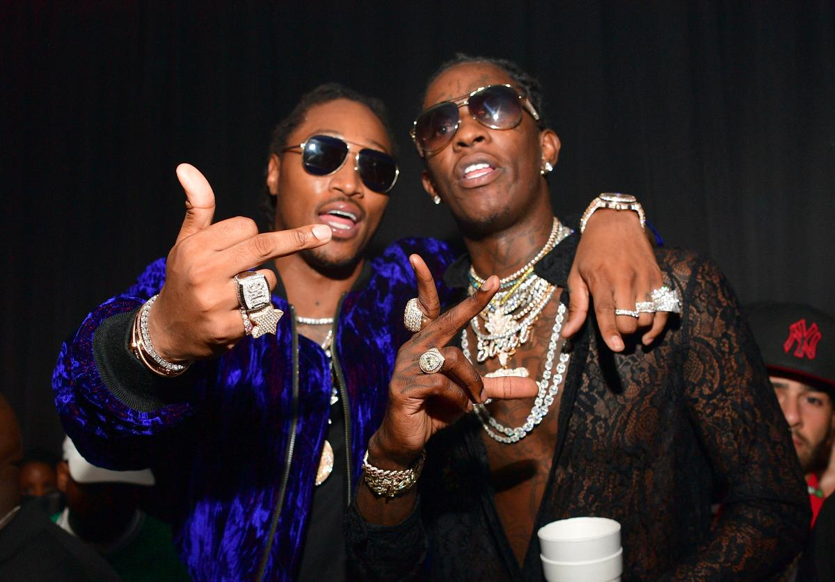 Rapper Future and Young Thug attend Young Thugs 25th Birthday an PUMA Campaign on August 15, 2016 in Atlanta, Georgia