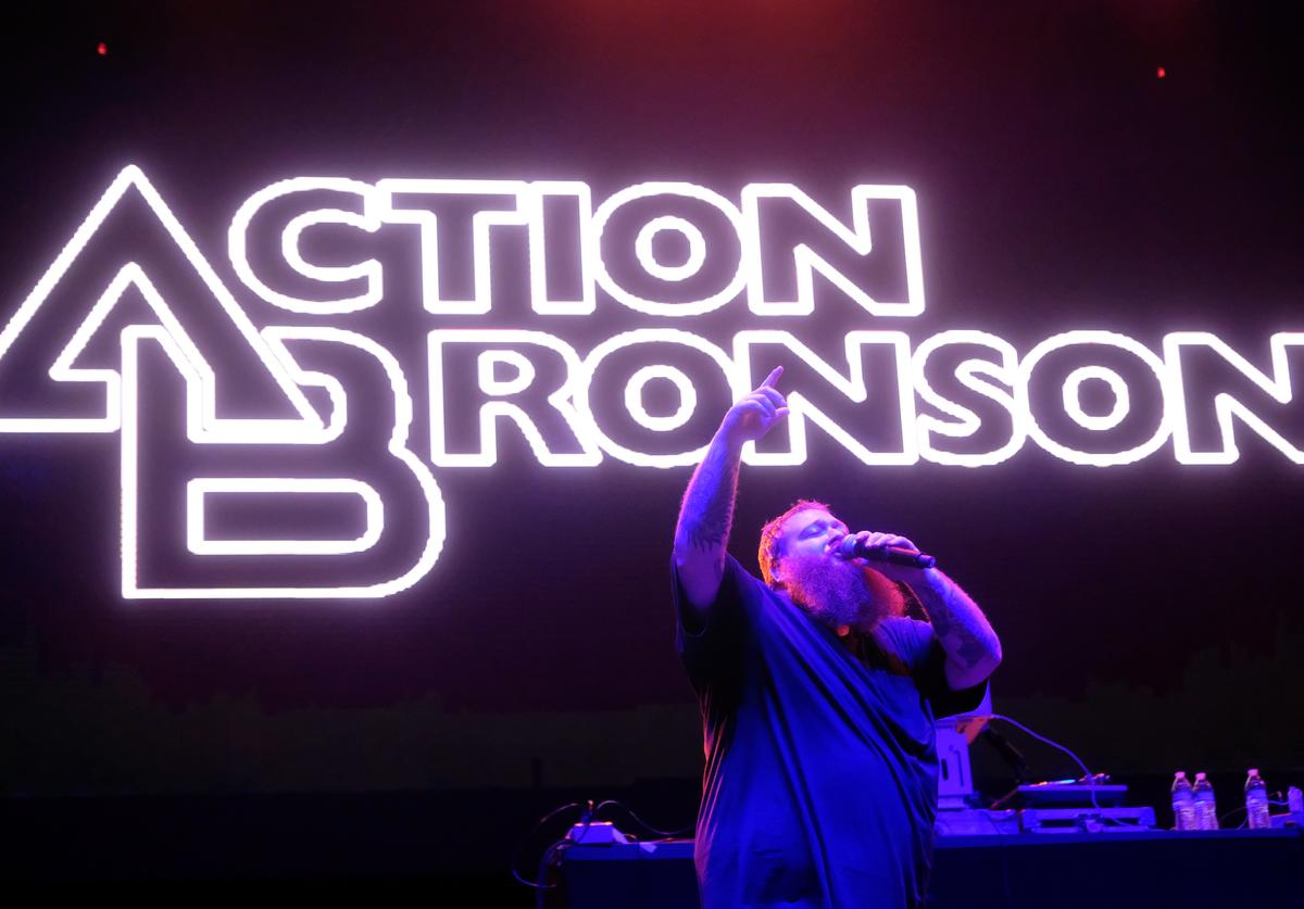 Action Bronson performs on Flog Stage during day two of Tyler, the Creator's 5th Annual Camp Flog Gnaw Carnival at Exposition Park on November 13, 2016 in Los Angeles, California.