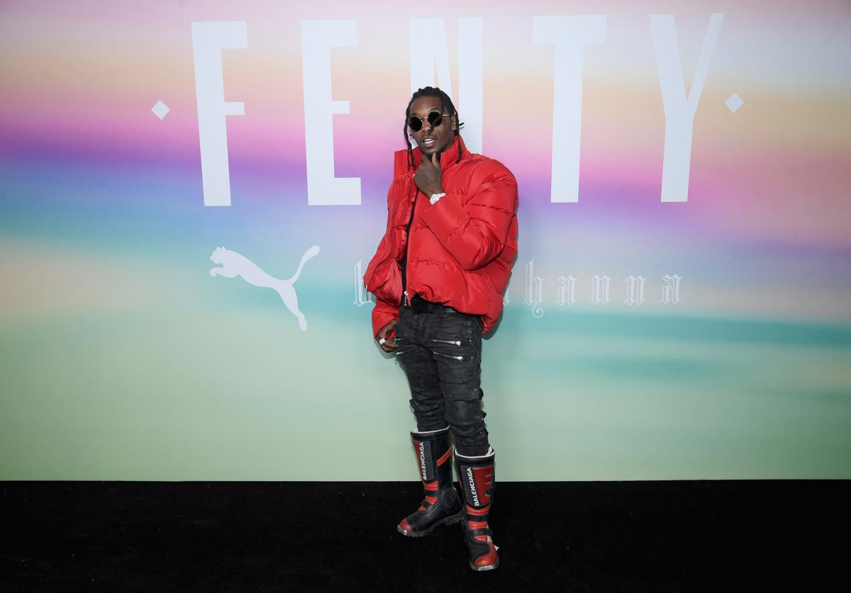 Rapper Offset of Migos attends the FENTY PUMA by Rihanna Spring/Summer 2018 Collection at Park Avenue Armory on September 10, 2017 in New York City.