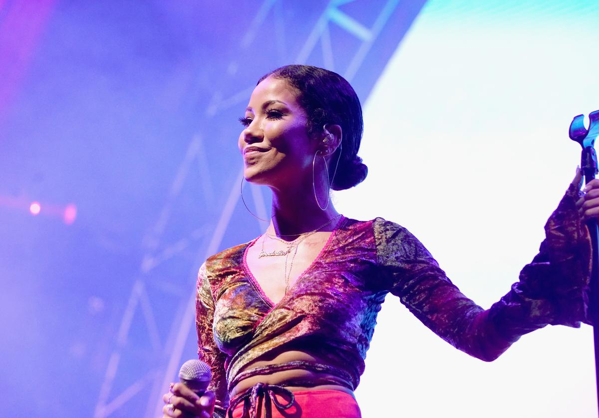 Jhene Aiko performs onstage at night two of the STAPLES Center Concert, presented by Coca-Cola, during the 2017 BET Experience at LA Live on June 23, 2017 in Los Angeles, California