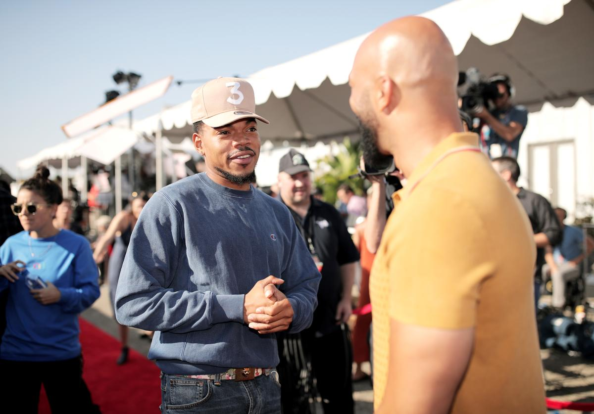 Chance the Rapper and Common attend XQ Super School Live, presented by EIF, at Barker Hangar on September 8, 2017 in Santa California