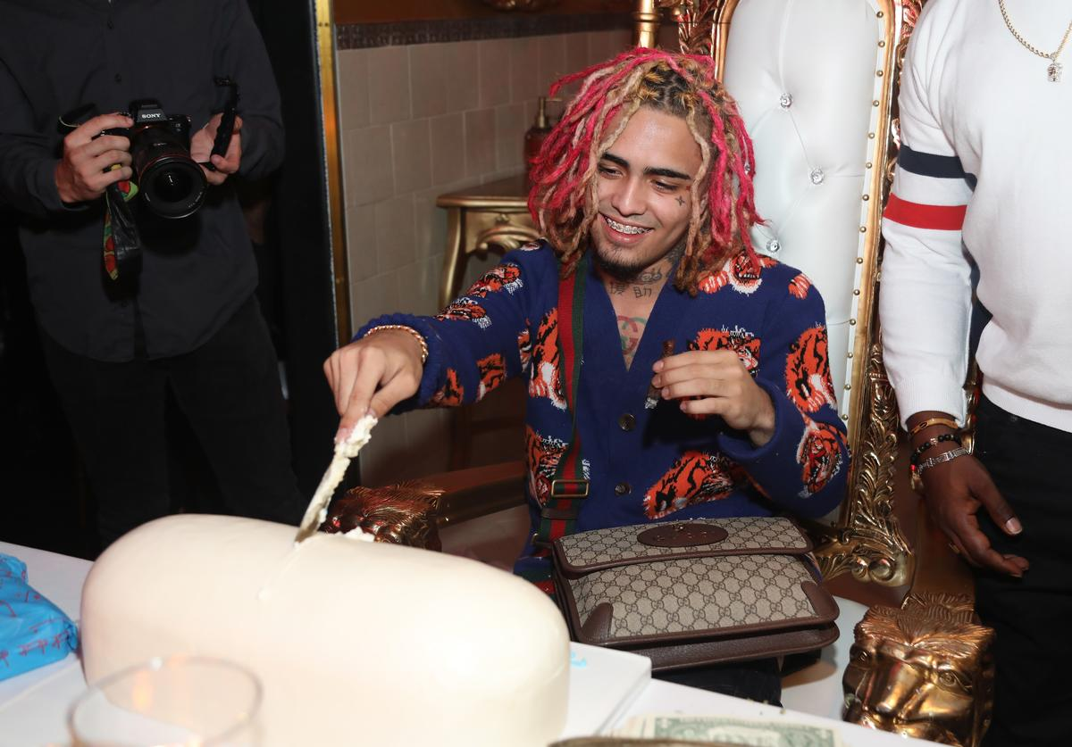 Lil Pump celebrates his 17th Birthday Party at Ace Of Diamonds on August 17, 2017 in West Hollywood, California.