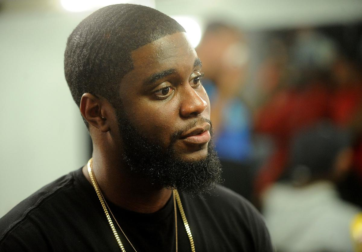 Hip-hop artist Big K.R.I.T. attends Elliott Wilson Hosts CRWN With Big K.R.I.T. For WatchLOUD.com Presented By vitaminwater on October 1, 2014 in New York City.