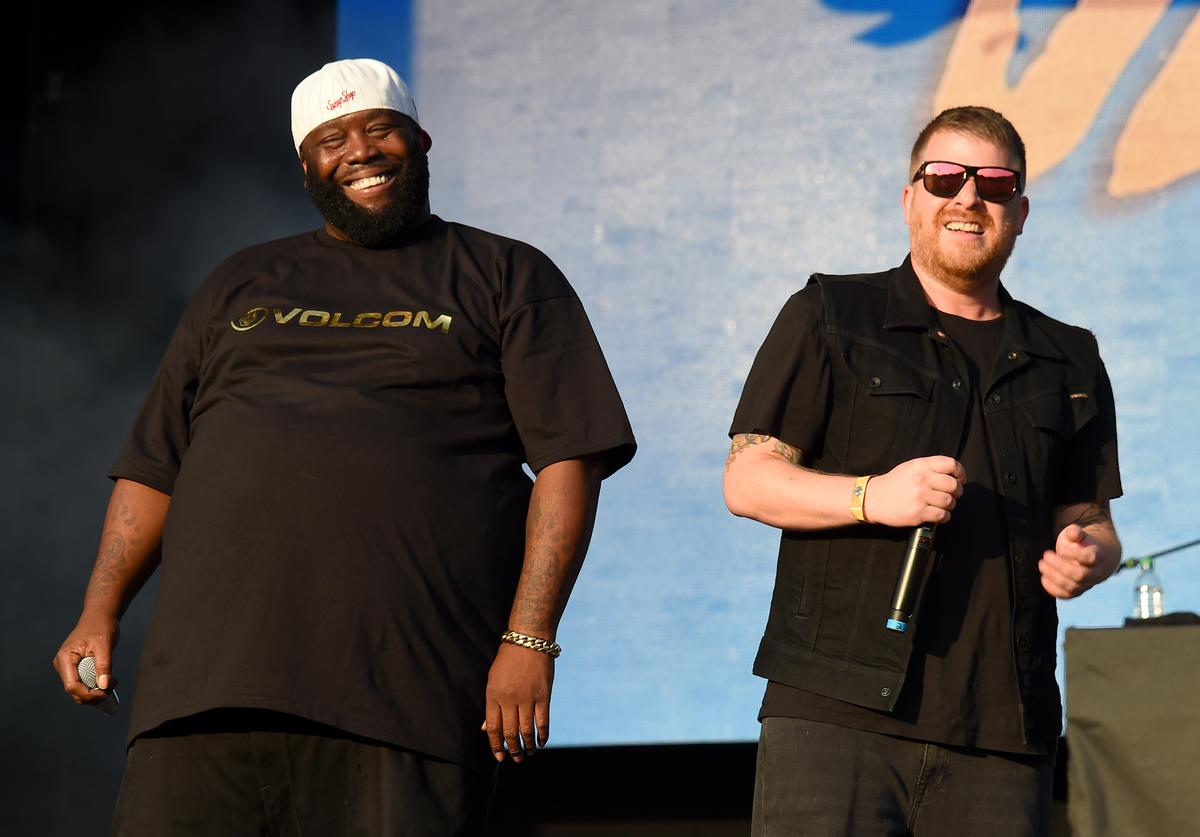 Killer Mike and El-P of Run The Jewels perform onstage during the Meadows Music And Arts Festival - Day 1 at Citi Field on September 15, 2017 in New York City