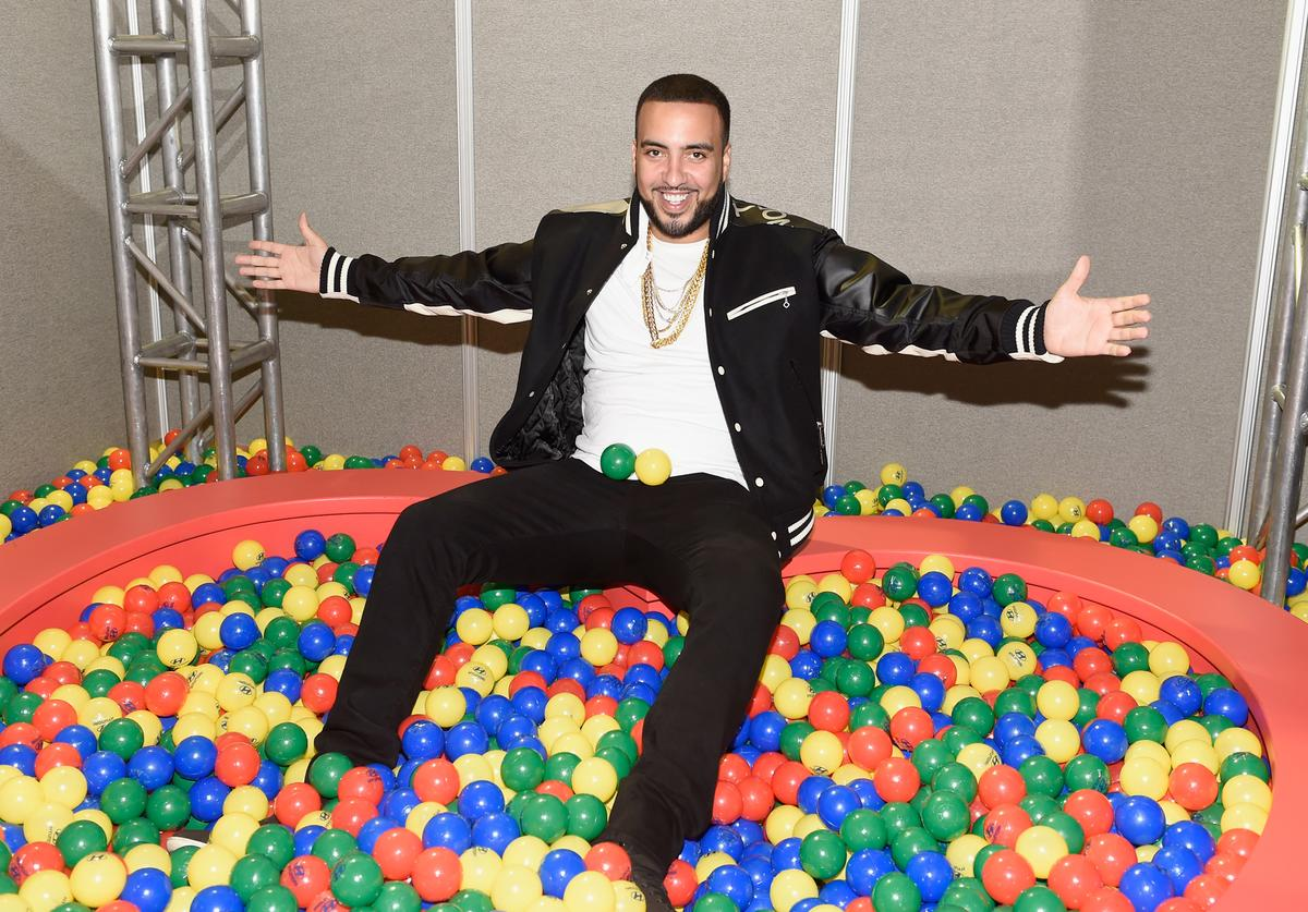 French Montana backstage during the Daytime Village Presented by Capital One at the 2017 HeartRadio Music Festival at the Las Vegas Village on September 23, 2017 in Las Vegas, Nevada.