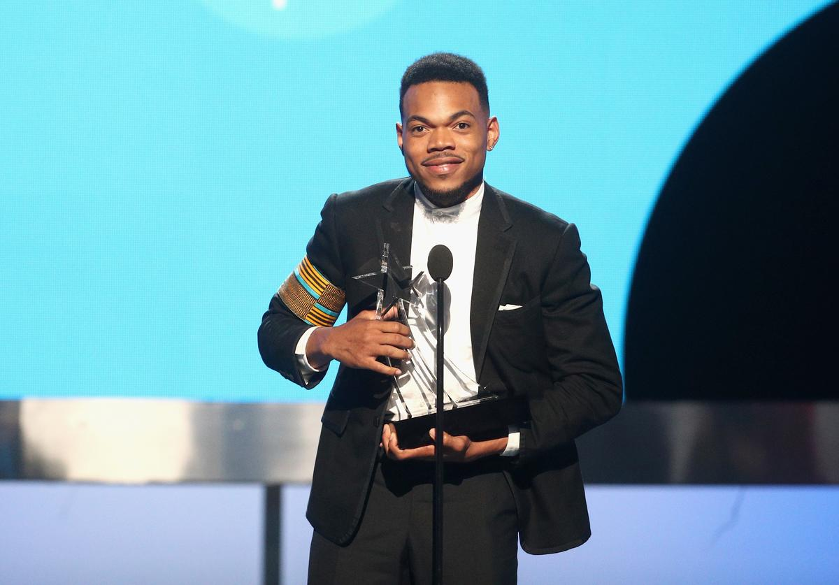 Chance The Rapper accepts the Humanitarian Award onstage at 2017 BET Awards at Microsoft Theater on June 25, 2017 in Los Angeles, California.