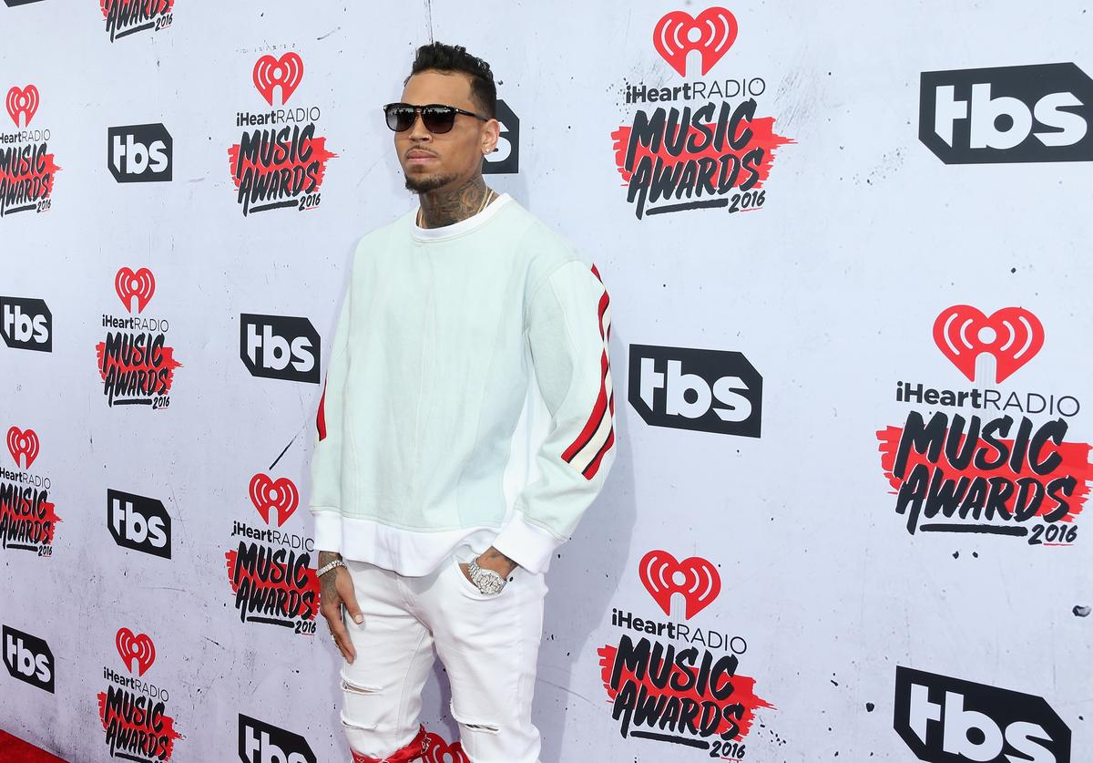 Singer Chris Brown attends the iHeartRadio Music Awards at The Forum on April 3, 2016 in Inglewood, California.