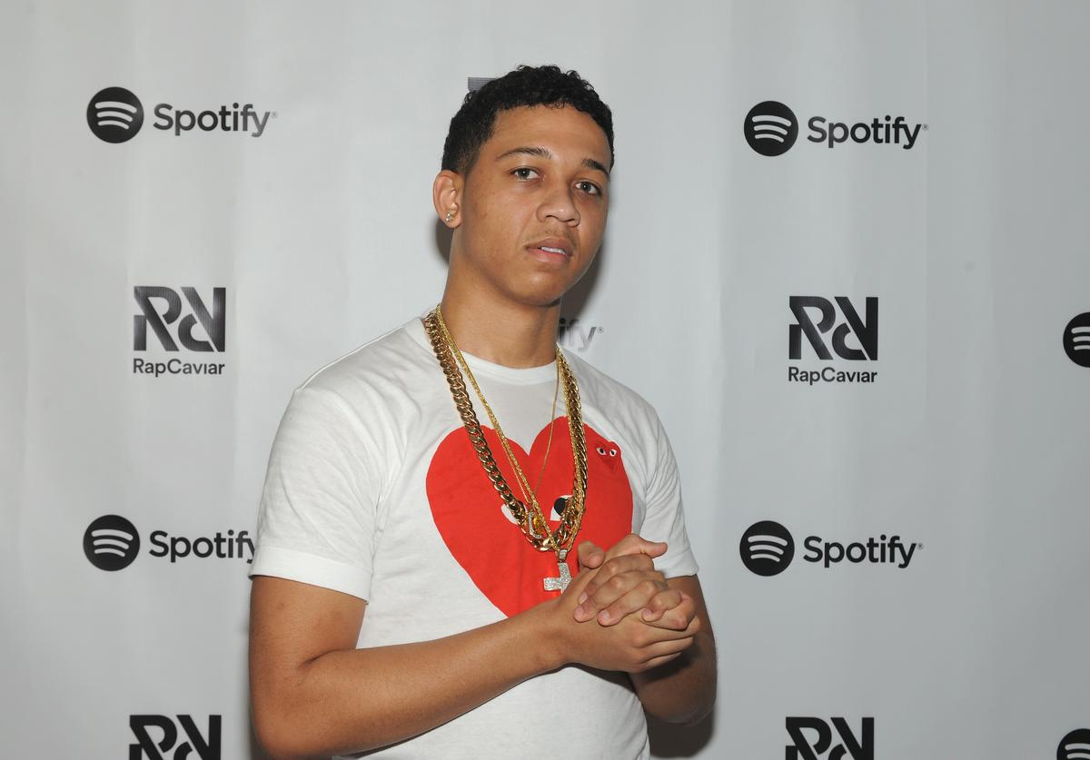 Lil Bibby poses backstage at Spotify's RapCaviar Live in Chicago at Aragon Ballroom on October 20, 2017 in Chicago, Illinois.
