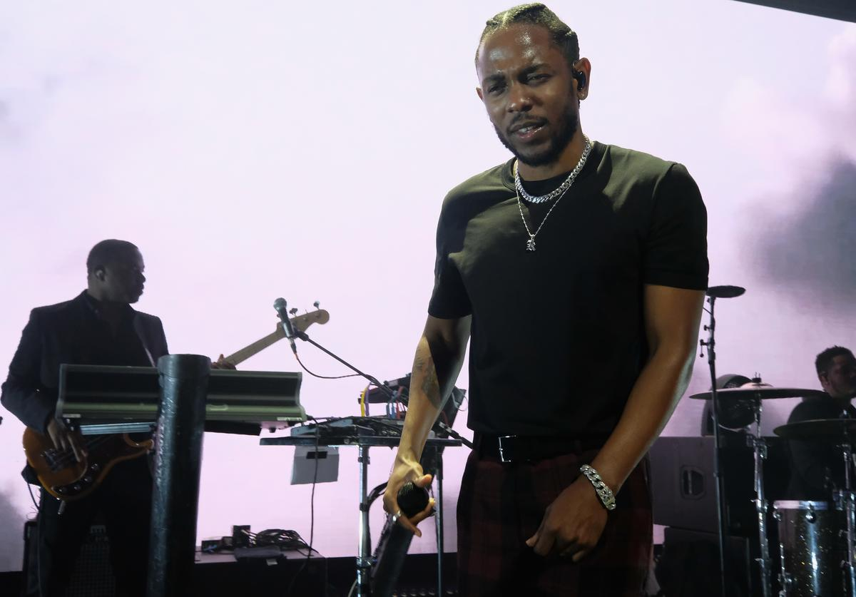 Kendrick Lamar performs onstage at Rihanna's 3rd Annual Diamond Ball Benefitting The Clara Lionel Foundation at Cipriani Wall Street on September 14, 2017 in New York City.