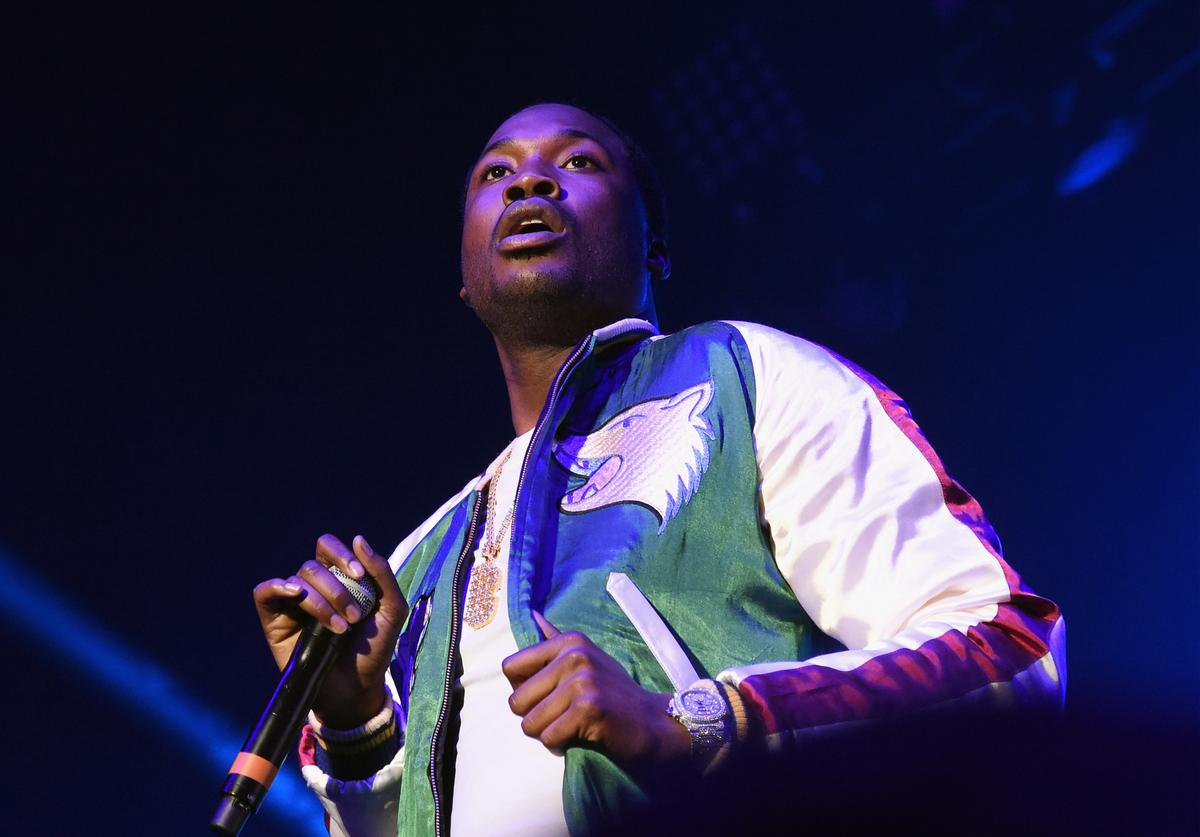 Meek Mill performs during V-103 Live Pop Up Concert at Philips Arena on March 25, 2017 in Atlanta, Georgia.