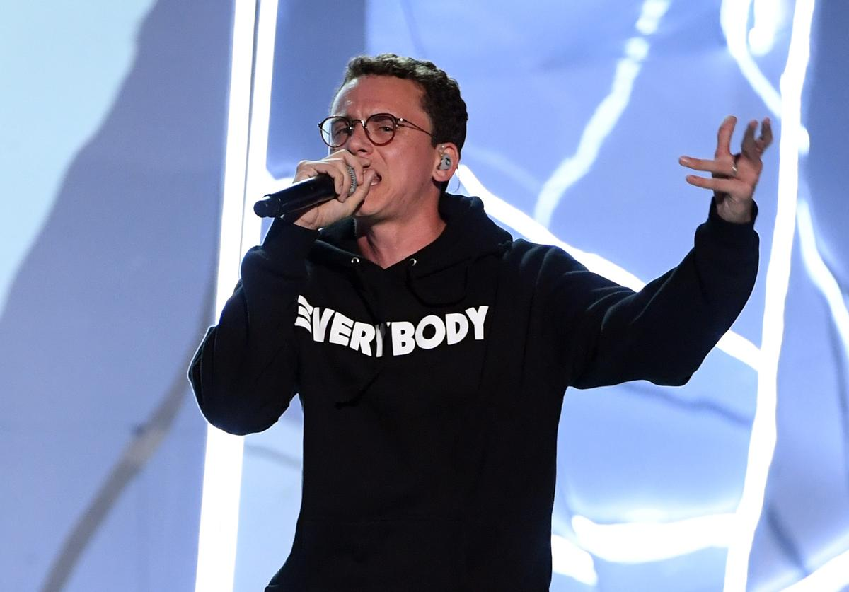 Logic performs onstage during the 2017 MTV Video Music Awards at The Forum on August 27, 2017 in Inglewood, California.