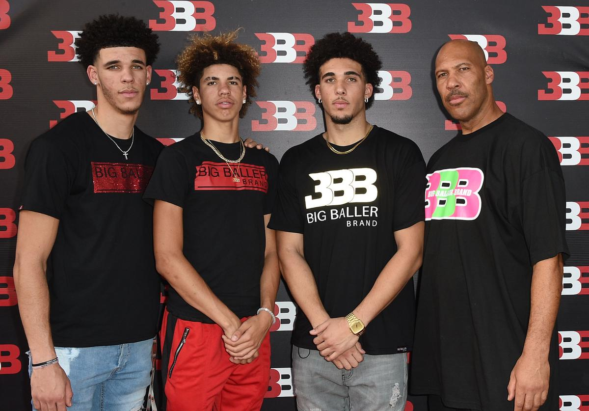 Lavar Ball and his family at Melo's 16th birthday