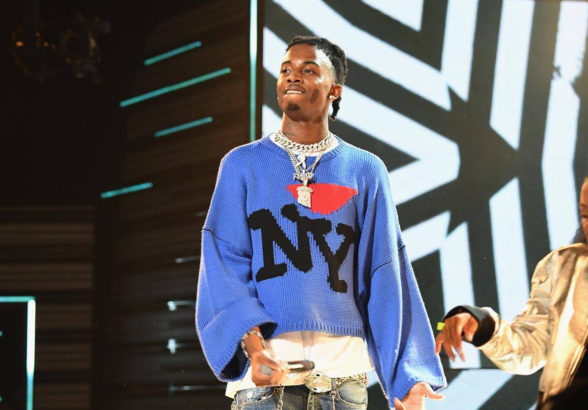 Rapper Playboi Carti performs onstage during the BET Hip Hop Awards 2017 at The Fillmore Miami Beach at the Jackie Gleason Theater on October 6, 2017 in Miami Beach, Florida.