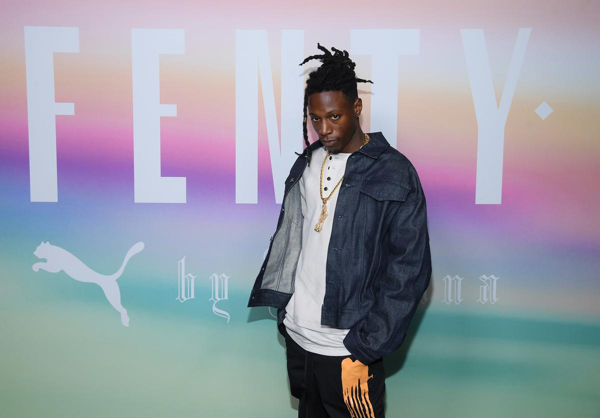 Rapper Joey Badass attends the FENTY PUMA by Rihanna Spring/Summer 2018 Collection at Park Avenue Armory on September 10, 2017 in New York City.