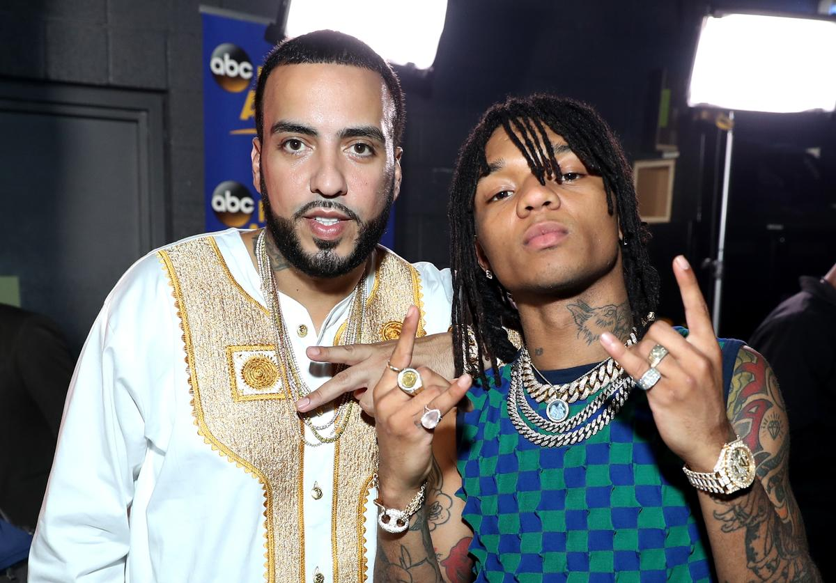 French Montana (L) and Swae Lee backstage at the 2017 BET Awards at Microsoft Theater on June 25, 2017 in Los Angeles, California.