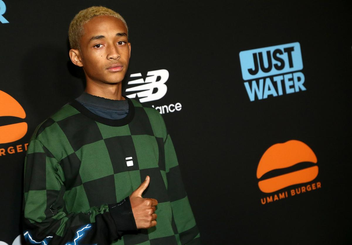 Actor Jaden Smith attends the Umami Burger x Jaden Smith Artist Series Launch Event at The Grove on October 11, 2017 in Los Angeles, California.