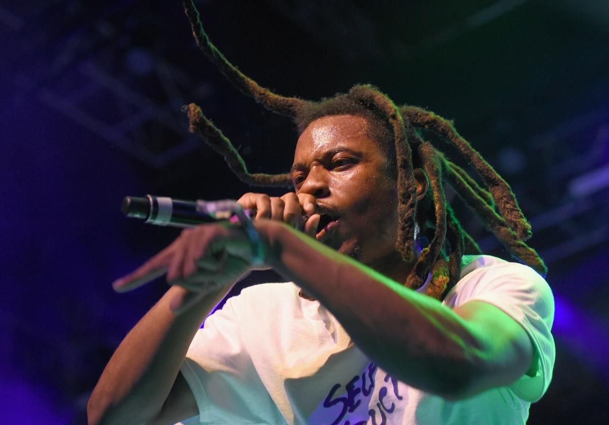Rapper Denzel Curry performs at the Gobi Tent during day 1 of the 2017 Coachella Valley Music & Arts Festival (Weekend 2) at the Empire Polo Club on April 21, 2017 in Indio, California.