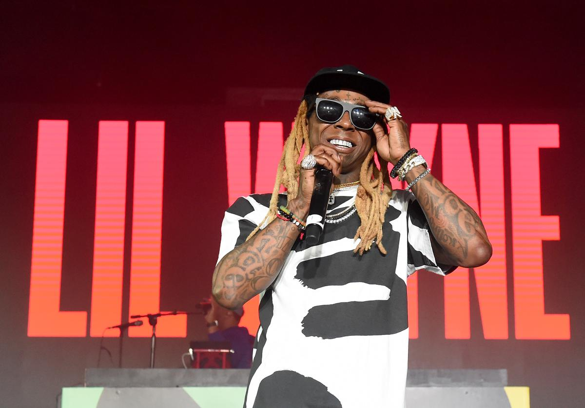 Lil Wayne performs onstage during BACARDI, Swizz Beatz and The Dean Collection bring NO COMMISSION back to Miami to celebrate 'Island Might' at Soho Studios on December 9, 2017 in Miami, Florida.
