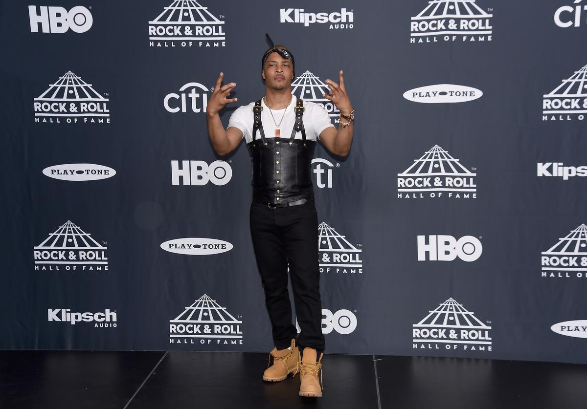 Recording artist T.I. attends the Press Room of the 32nd Annual Rock & Roll Hall Of Fame Induction Ceremony at Barclays Center on April 7, 2017 in New York City. The event will broadcast on HBO Saturday, April 29, 2017 at 8:00 pm ET/PT