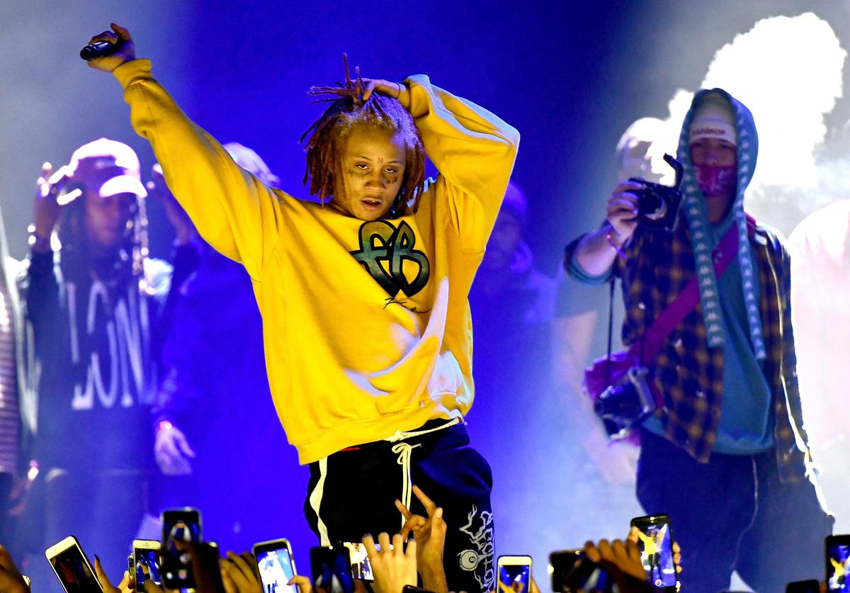 Rapper Trippie Redd performs onstage at The Novo by Microsoft on January 15, 2018 in Los Angeles, California.