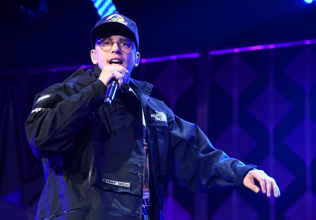 Logic performs at Z100's Jingle Ball 2017 on December 8, 2017 in New York City