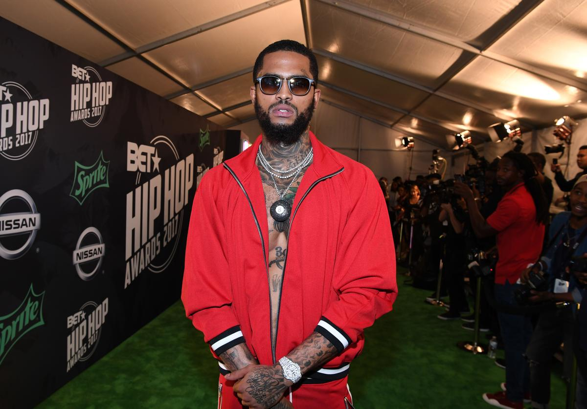 Rapper Dave East attends the BET Hip Hop Awards 2017 at The Fillmore Miami Beach at the Jackie Gleason Theater on October 6, 2017 in Miami Beach, Florida.