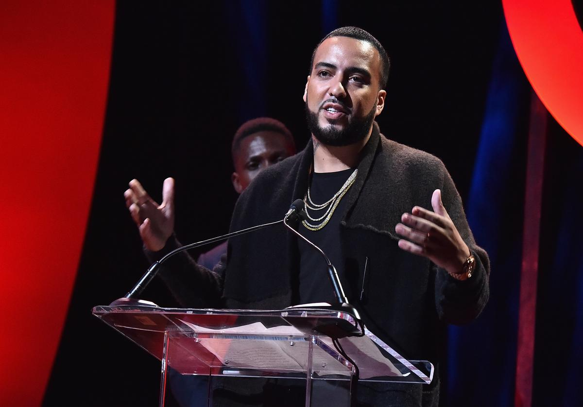 French Montana speaks onstage during Global Citizen Live! at NYU Skirball Center on September 18, 2017 in New York City.