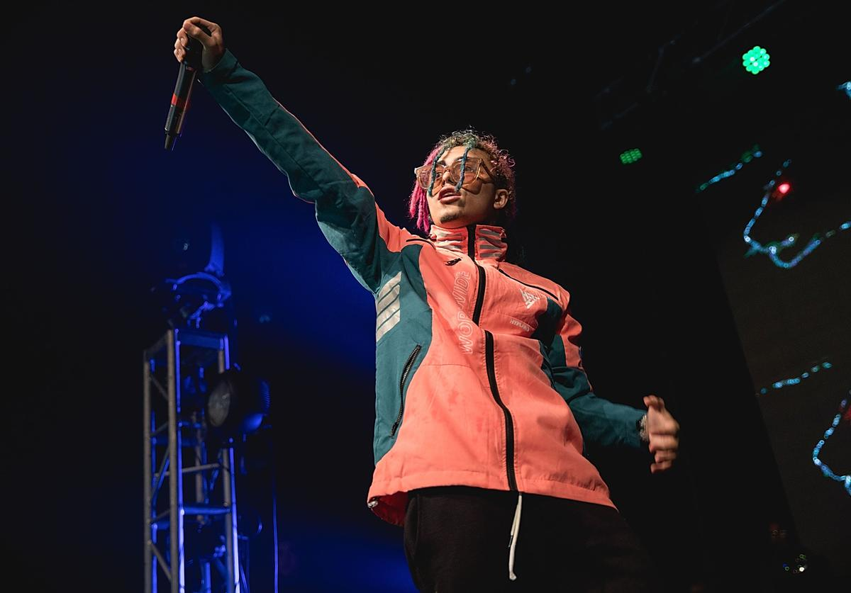 Rapper Lil Pump performs in concert at Emo's on November 24, 2017 in Austin, Texas.