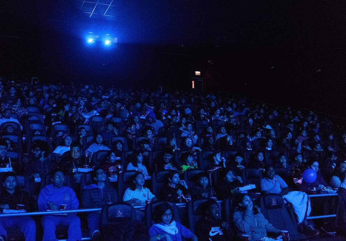 Union League Boys & Girls Club members received the celebrity treatment with concessions and more during an advance IMAX screening of Black Panther