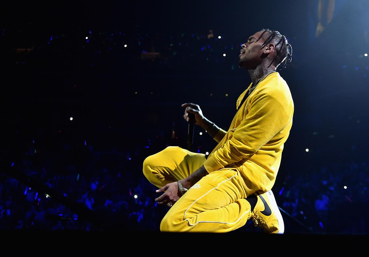 Chris Brown performs onstage during TIDAL X: Brooklyn at Barclays Center