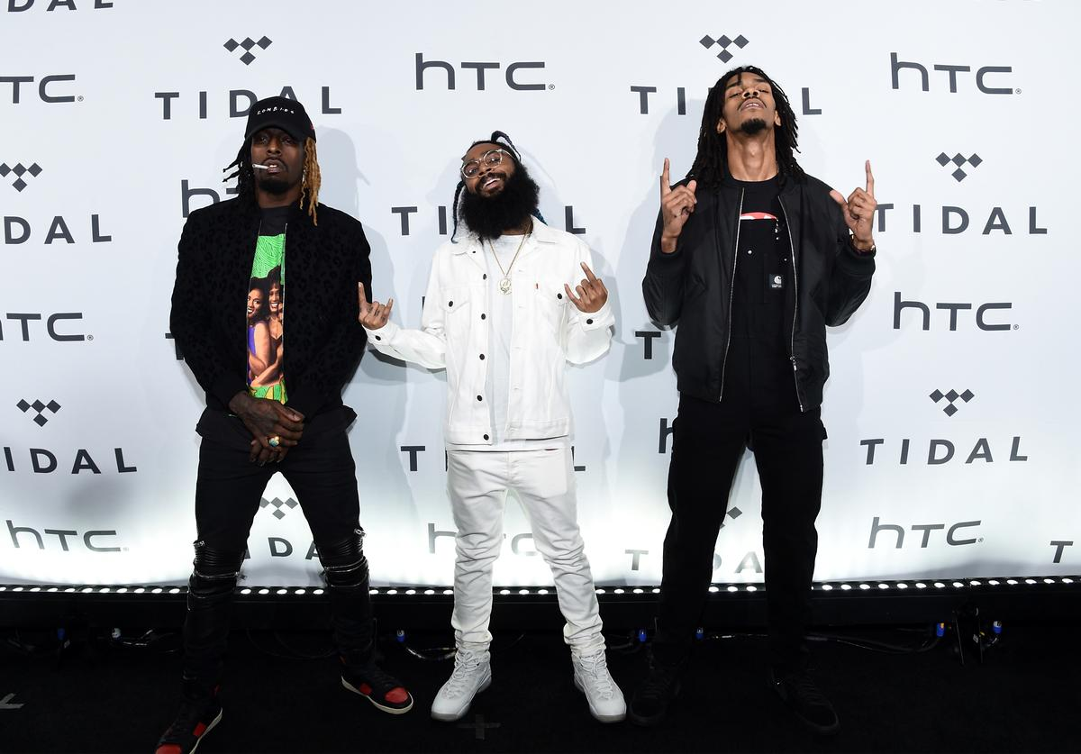 Meechy Darko, Zombie Juice and Erick Arc Elliott of Flatbush Zombies attend TIDAL X: 1020 at Barclays Center on October 20, 2015 in the Brooklyn borough of New York City.