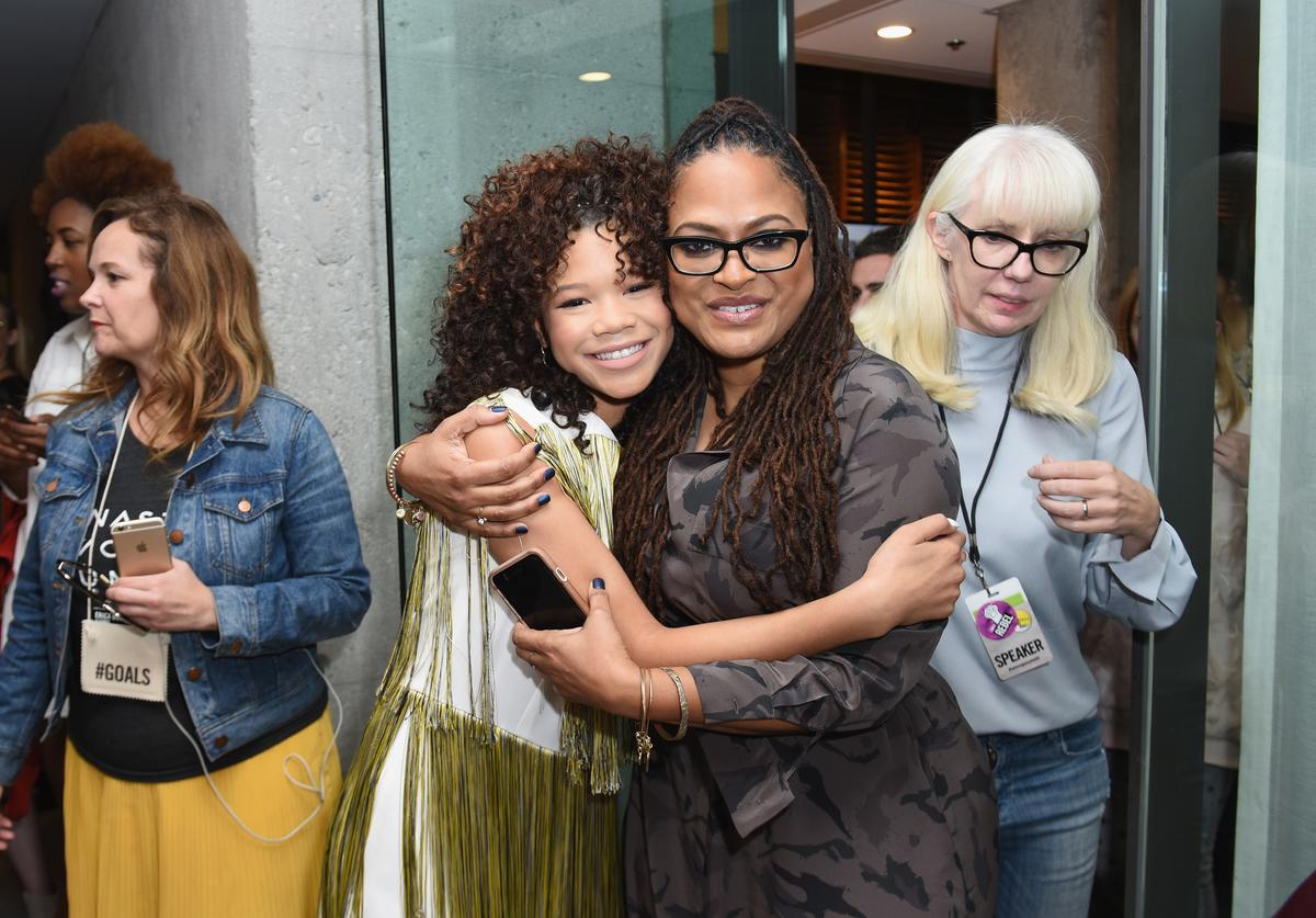 Storm Reid and Ava DuVernay at The Teen Vogue Summit LA