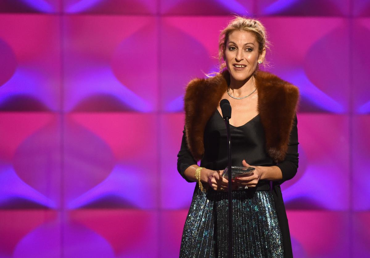 Julie Greenwald accepts the Executive of the Year Award onstage at Billboard Women In Music 2017 at The Ray Dolby Ballroom at Hollywood & Highland Center on November 30, 2017 in Hollywood, California