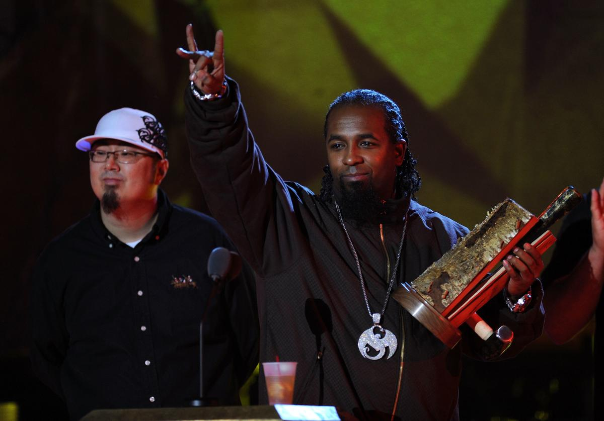 Recording artist Tech N9ne appears onstage at the 2009 mtvU Woodie Awards at Roseland Ballroom on November 18, 2009 in New York City.