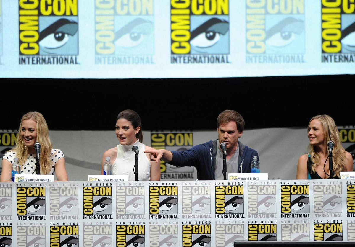 """The cast of """"Dexter"""" at Comic-Con International 2013"""