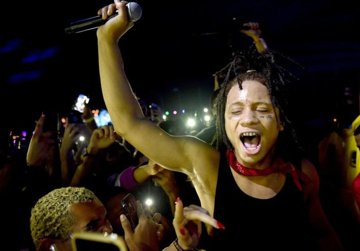 Trippie Redd performs onstage at the Rolling Loud Festival at NOS Events Center on December 16, 2017 in San Bernardino, California
