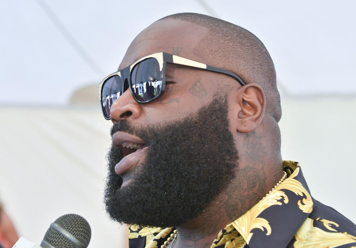 Rick Ross attends the Russell Simmons' Rush Philanthropic Arts Foundation:15th Annual ART FOR LIFE Benefit Sponsored By BOMBAY SAPPHIRE Gin at Fairview Farms on July 26, 2014 in Bridgehampton, New York