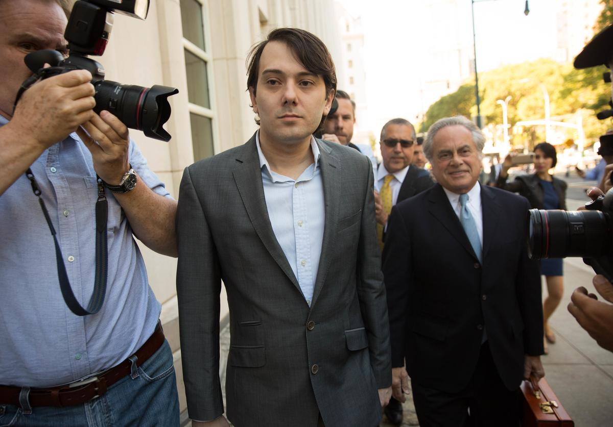 Ex-pharmaceutical executive Martin Shkreli arrives at the U.S. District Court for the Eastern District of New York on the first day of his securities fraud trial on June 26, 2017