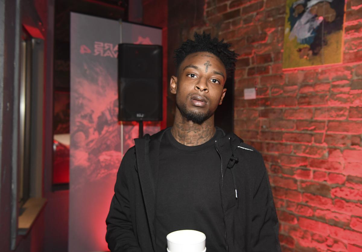 21 Savage attend Xbox And Gears Of War 4 launch event at Studio No. 7 on October 10, 2016 in Atlanta, Georgia