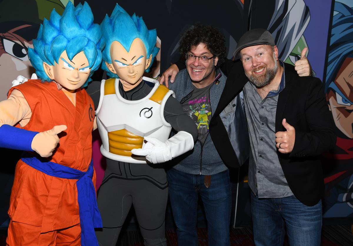 Christopher Sabat and Sean Schemmel at the Dragon Ball Super NYCC Fan Meetup