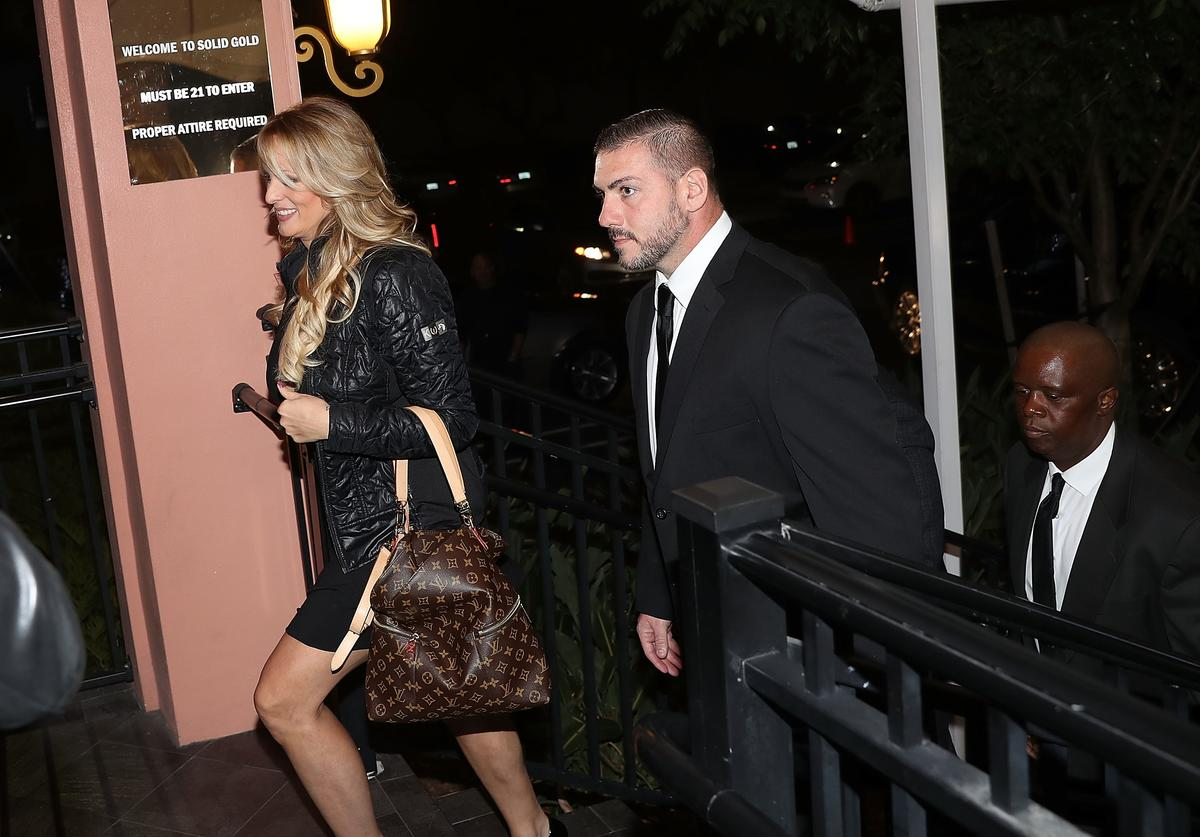 Stormy Daniels arriving to perform