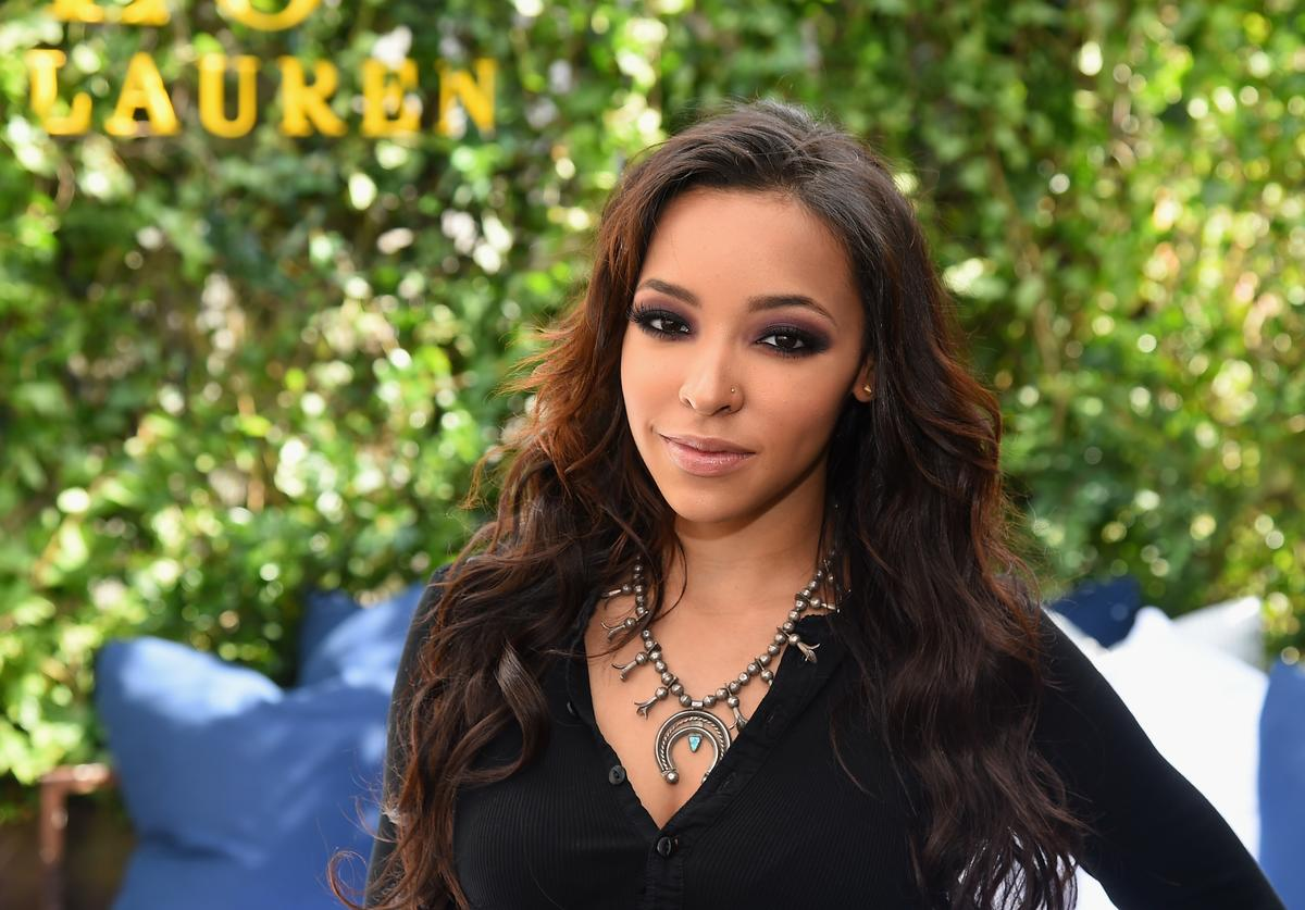 Singer Tinashe attends the Polo Ralph Laurenfashion show during Spring 2016 New York Fashion Week at Gallow Green at the McKittrick Hotel on September 11, 2015 in New York City.