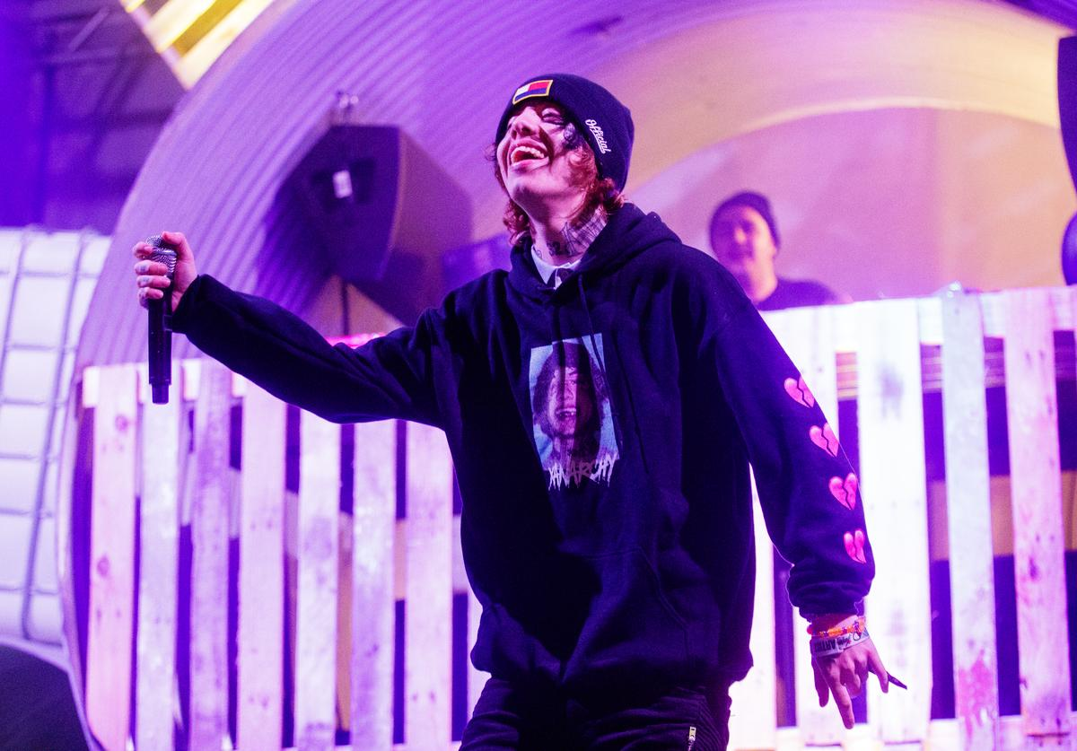 Lil Xan performs at the Buku Music + Arts Project at Mardi Gras World on March 9, 2018 in New Orleans, Louisiana