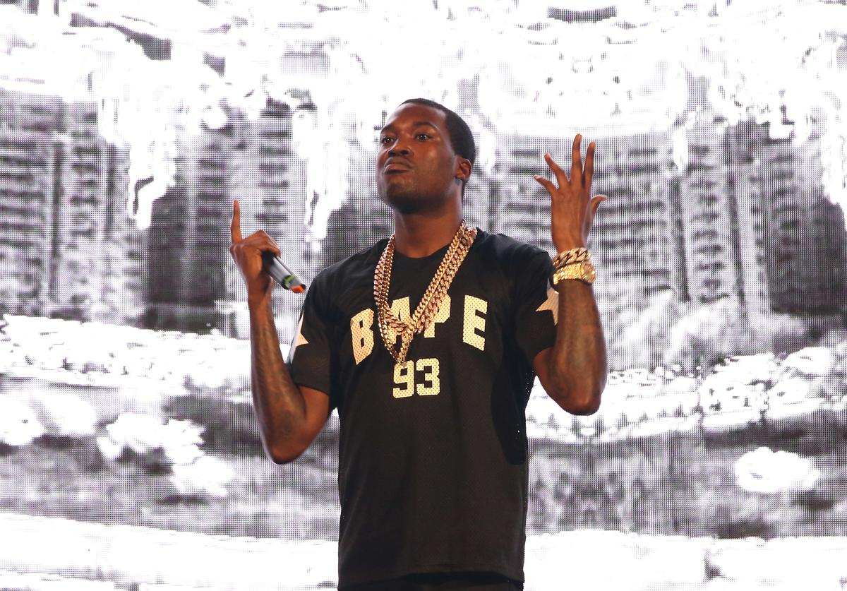 Meek Mill performs on stage at Barclays Center of Brooklyn on July 26, 2015 in New York City.