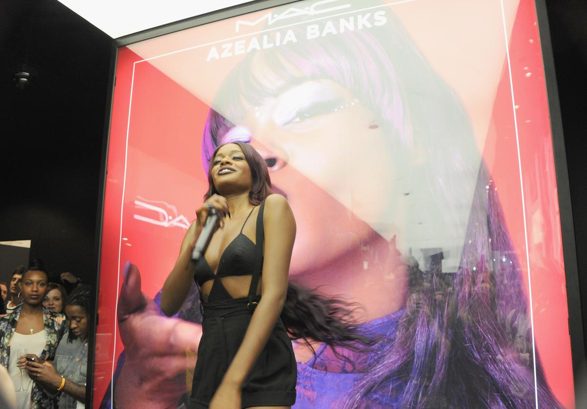 Azealia Banks performs live at MAC Cosmetics Fashion's Night Out on September 6, 2012 in New York City