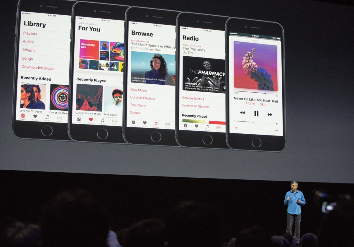 An Apple event at the Worldwide Developer's Conference