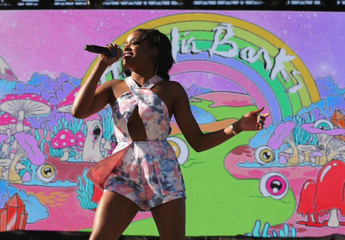Azealia Banks performs onstage during day 1 of the 2015 Coachella Valley Music And Arts Festival (Weekend 2) at The Empire Polo Club on April 17, 2015 in Indio, California
